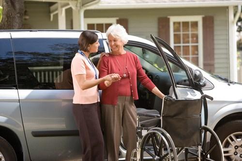 Elderly Drive Car Into Shop